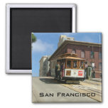 Cable Car 2 Inch Square Magnet