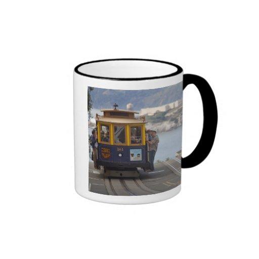 Cable car chugs up Hyde Street in San Coffee Mug
