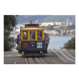 Cable car chugs up Hyde Street in San Photo Print