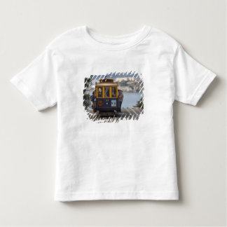 Cable car chugs up Hyde Street in San Toddler T-shirt