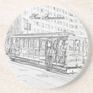 Cable Car Drink Coaster