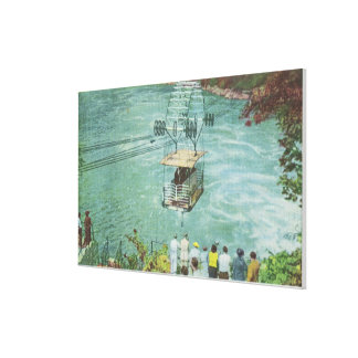Cable Car Crossing the Whirlpool Canvas Print