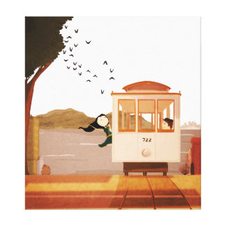 Cable Car Extra Large Canvas Print