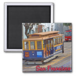Cable Car in San Francisco 2 Inch Square Magnet