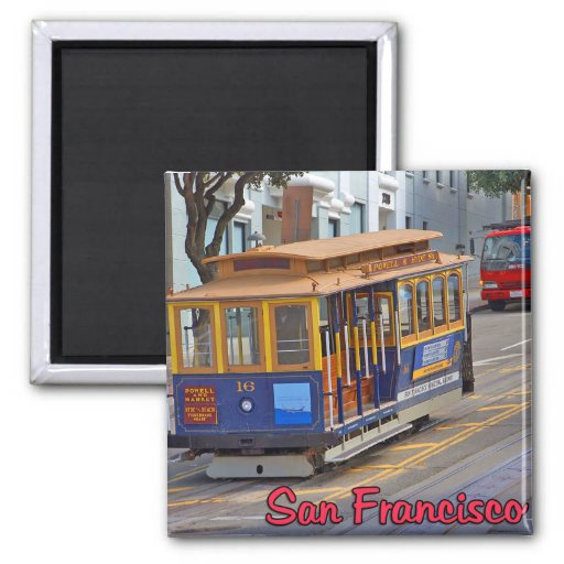 Cable Car in San Francisco Fridge Magnets