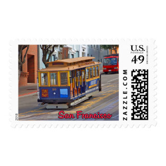 Cable Car in San Francisco Stamps