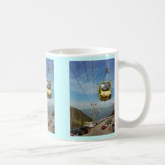 Cable car, La Plagne, Haute Savoie Classic White Coffee Mug