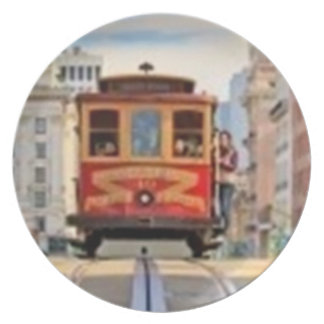 Cable Car of San Francisco Party Plates