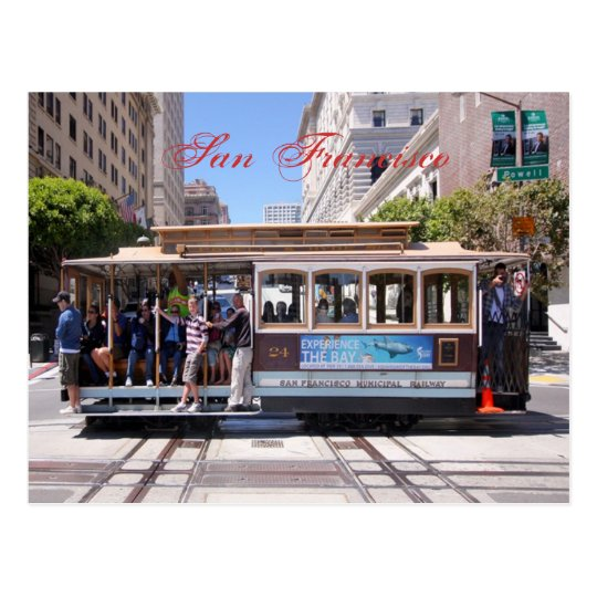 Cable Car of San Francisco Postcard