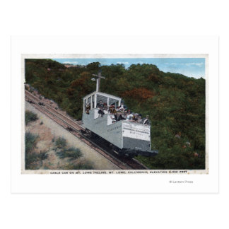 Cable Car on Incline View Postcard