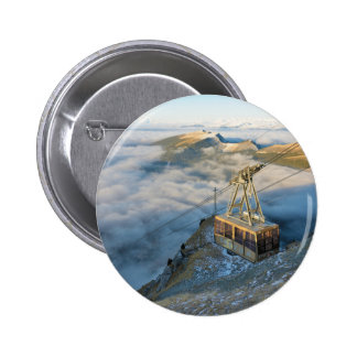 Cable car on the Mount Seceda in the Dolomites Pinback Button