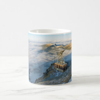 Cable car on the Mount Seceda in the Dolomites Coffee Mug