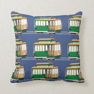 Cable Car Pattern Throw Pillow
