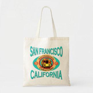 Cable Car San Francisco Tote Bags