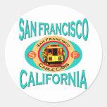 Cable Car San Francisco Round Sticker