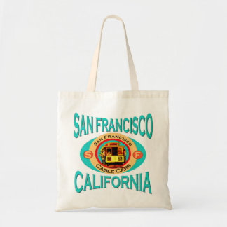 Cable Car San Francisco Tote Bags