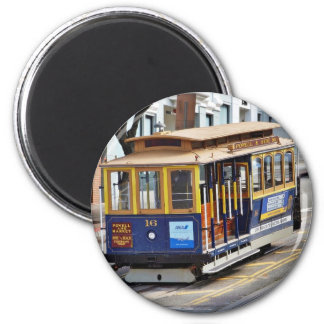 Cable Cars In San Francisco 2 Inch Round Magnet