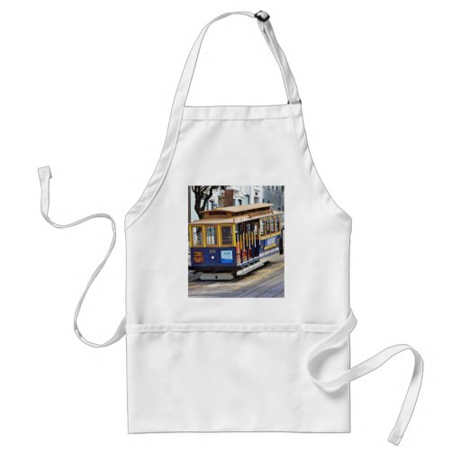 Cable Cars In San Francisco Adult Apron