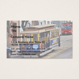 Cable Cars In San Francisco Business Card