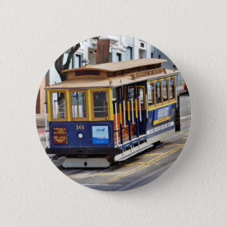 Cable Cars In San Francisco Button