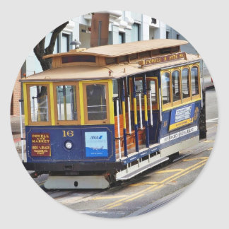 Cable Cars In San Francisco Classic Round Sticker