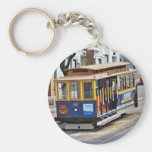 Cable Cars In San Francisco Basic Round Button Keychain