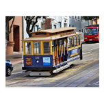 Cable Cars In San Francisco Postcard