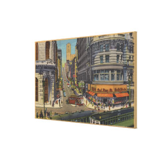 Cable Cars on Market and Powell Street Canvas Print