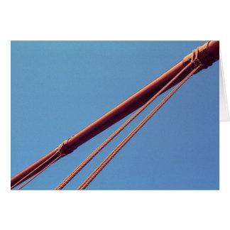 Cable de la suspensión de puente Golden Gate Tarjeta De Felicitación