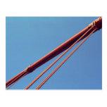 Cable de la suspensión de puente Golden Gate Tarjetas Postales