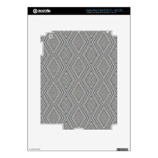 Cable Diamond Pattern Grey and Light Blue Design iPad 3 Skin