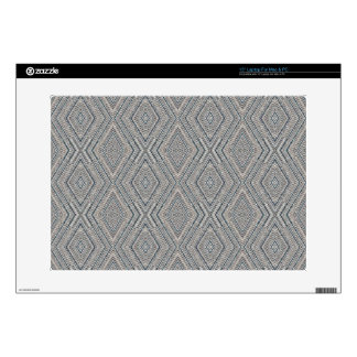 Cable Diamond Pattern Grey and Light Blue Design Skins For Laptops