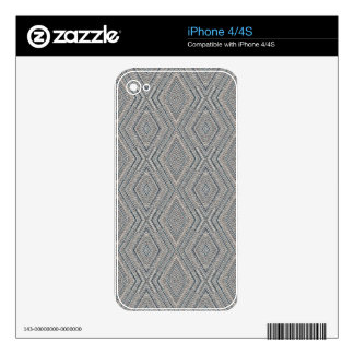 Cable Diamond Pattern Grey and Light Blue Design Skins For The iPhone 4S