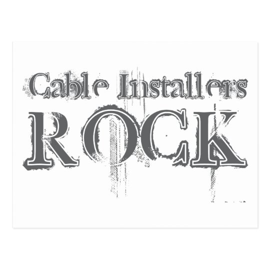 Cable Installers Rock Postcard