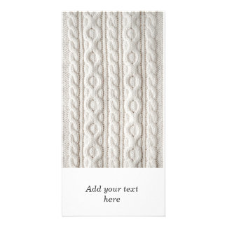 Cable knit fabric background card