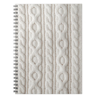 Cable knit fabric background spiral notebook