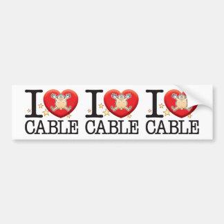 Cable Love Man Car Bumper Sticker