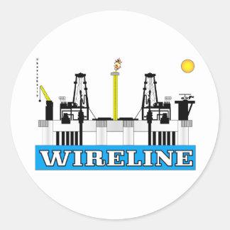 Cable metálico, costero, pegatina del campo