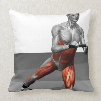 Cable Skater Exercise 2 Throw Pillow