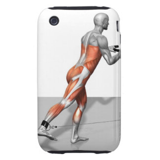 Cable Skater Exercise iPhone 3 Tough Case