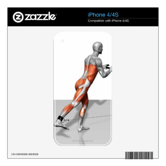 Cable Skater Exercise Skin For iPhone 4