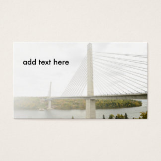 cable-stayed bridge business card