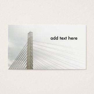 cable stayed bridge business card