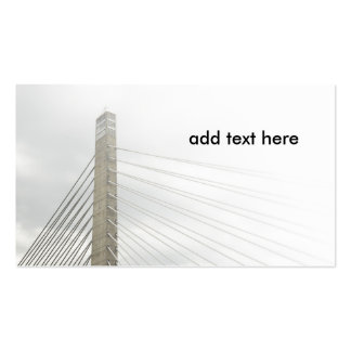 cable stayed bridge Double-Sided standard business cards (Pack of 100)