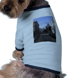 Cable tracks in the middle of road - San Francisco Dog Tshirt