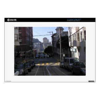 """Cable tracks in the middle of road - San Francisco Decals For 15"""" Laptops"""