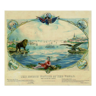 Cable transatlántico 1866 póster