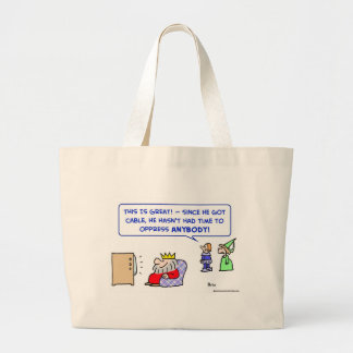 cable tv king oppress time canvas bag