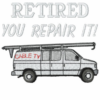 Cable TV Repairmen Embroidered Shirt