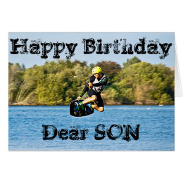 CABLE WATER SKIER SON GREETING CARD